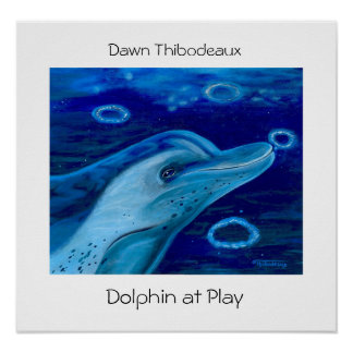 Dolphin at Play Posters