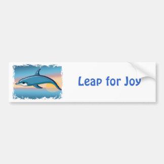 Dolphin at Sunrise Bumper Sticker