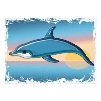 Dolphin at Sunrise Card