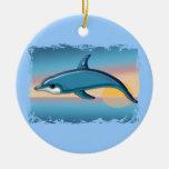 Dolphin at Sunrise Ceramic Ornament