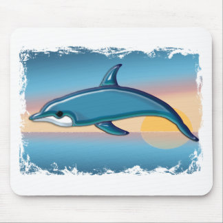 Dolphin at Sunrise Mouse Pad