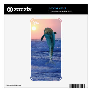 Dolphin at sunrise iPhone 4S skins