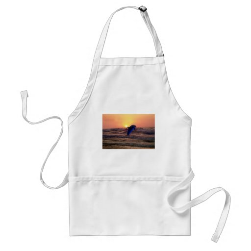 Dolphin at sunset adult apron