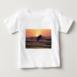 Dolphin at sunset baby T-Shirt