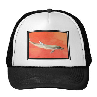 Dolphin at Sunset Mesh Hats