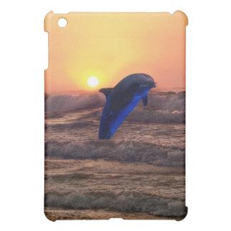 Dolphin at sunset iPad mini cover