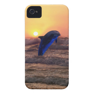 Dolphin at sunset iPhone 4 case