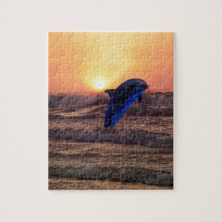 Dolphin at sunset jigsaw puzzle