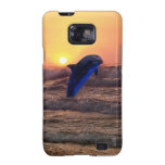 Dolphin at sunset samsung galaxy s cover