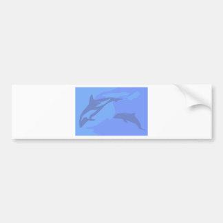 Dolphin Background Bumper Sticker