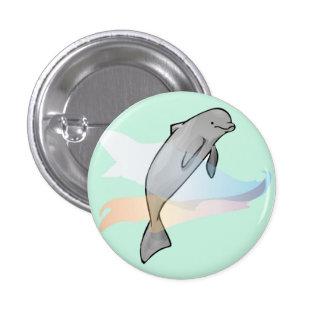 Dolphin Badge 1 Inch Round Button