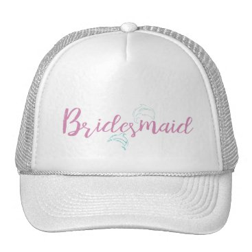 Beach Themed Dolphin Beach Bridesmaid Trucker Hat