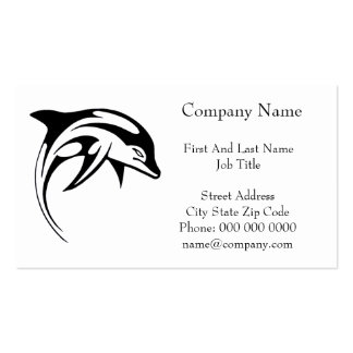 Dolphin Black Tribal Dolphin Cartoon Tattoo Double-Sided Standard Business Cards (Pack Of 100)