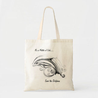 Dolphin Budget Tote Bag