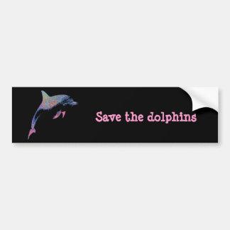 dolphin car bumper sticker
