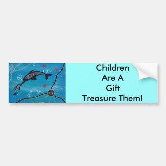 Dolphin & Calf Dreaming Car Bumper Sticker