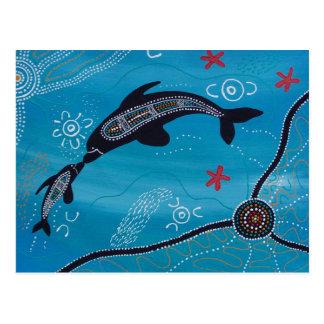 Dolphin & Calf Dreaming Postcard