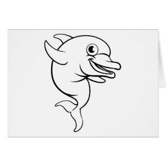 Dolphin Cartoon Character Card