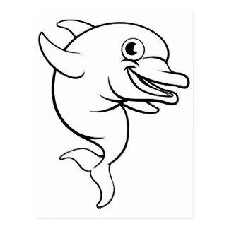 Dolphin Cartoon Character Postcard
