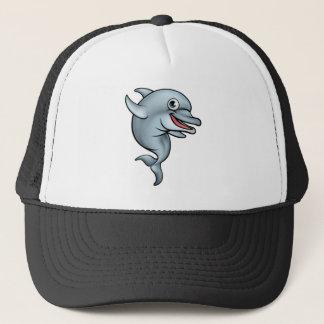 Dolphin Cartoon Character Trucker Hat