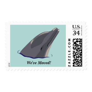 Dolphin Change of Address Postage Stamps
