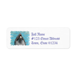 Dolphin Chatter Return Address Label