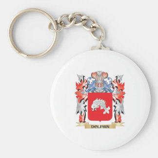 Dolphin Coat of Arms - Family Crest Keychain