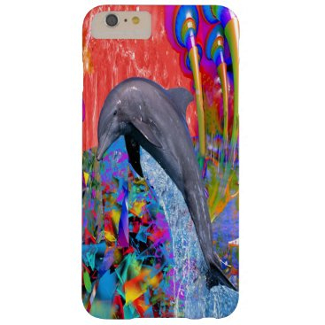 Dolphin Color Splash Barely There iPhone 6 Plus Case