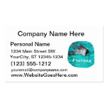 dolphin coming out of teal clear water florida business card templates