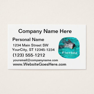 dolphin coming out of teal clear water florida business card