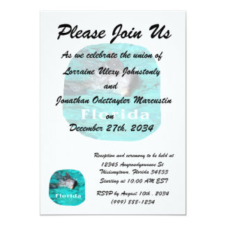 dolphin coming out of teal clear water florida card
