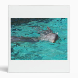dolphin coming out of teal water full page vinyl binder