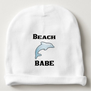 Beach Themed Dolphin Cotton Beanie for Baby