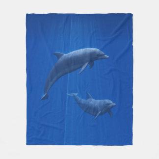 Dolphin Couple Fleece Blanket