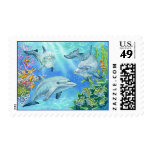 Dolphin Cove Postage Stamp