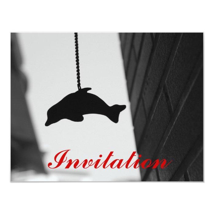 Dolphin Cutout Card