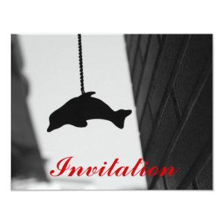 Dolphin Cutout 4.25x5.5 Paper Invitation Card