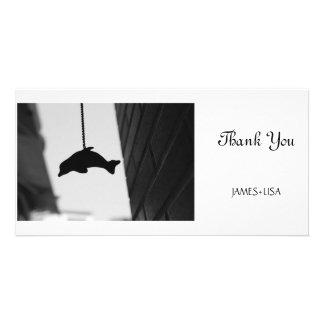 Dolphin Cutout Photo Card Template