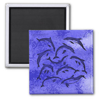 DOLPHIN DANCE 2 INCH SQUARE MAGNET
