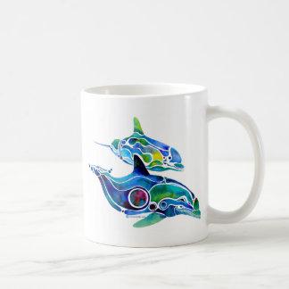 Dolphin Dance Classic White Coffee Mug