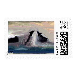 Dolphin Dance postal stamp