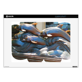 Dolphin Dance statue outside Boston Aquarium Laptop Skin