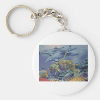 Dolphin Dance with Tropical Fish Keychain