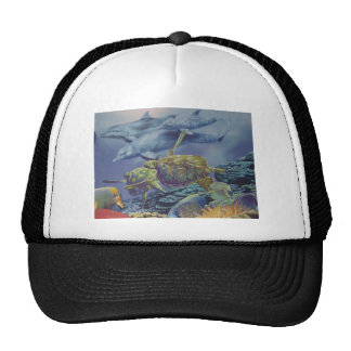 Dolphin Dance with Tropical Fish Mesh Hats