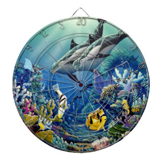 Dolphin Dart Board- environmental Artist Apollo Dartboard