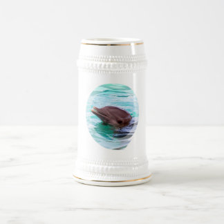 Dolphin Design Beer Stein Coffee Mug