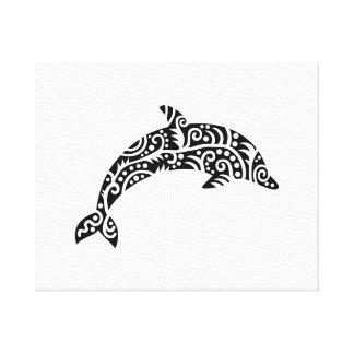 Dolphin design canvas prints