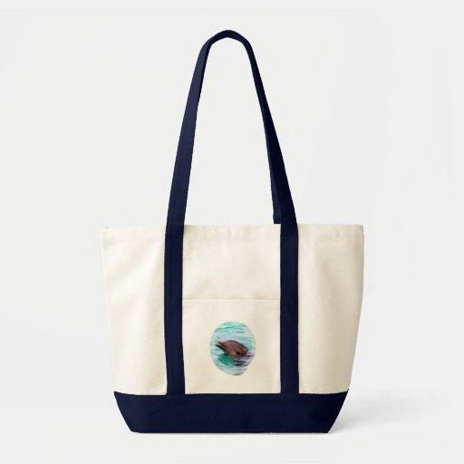 Dolphin Design Canvas Tote Bag