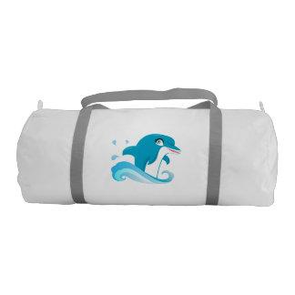 Dolphin Design Gym Swim Bag Gym Duffle Bag