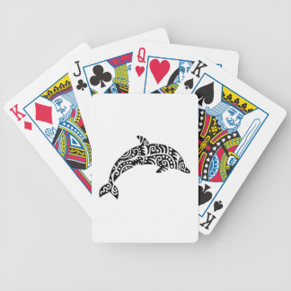 Dolphin design bicycle playing cards